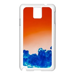 Simulate Weather Fronts Smoke Blue Orange Samsung Galaxy Note 3 N9005 Case (White)
