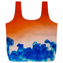 Simulate Weather Fronts Smoke Blue Orange Full Print Recycle Bags (L)