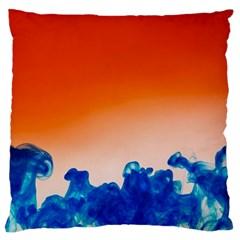 Simulate Weather Fronts Smoke Blue Orange Large Flano Cushion Case (One Side)