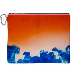 Simulate Weather Fronts Smoke Blue Orange Canvas Cosmetic Bag (XXXL)