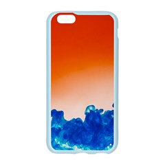 Simulate Weather Fronts Smoke Blue Orange Apple Seamless iPhone 6/6S Case (Color)