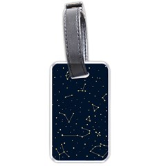 Star Zodiak Space Circle Sky Line Light Blue Yellow Luggage Tags (Two Sides)