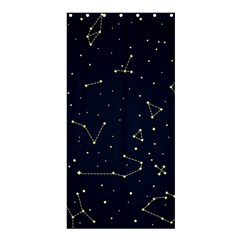 Star Zodiak Space Circle Sky Line Light Blue Yellow Shower Curtain 36  x 72  (Stall)