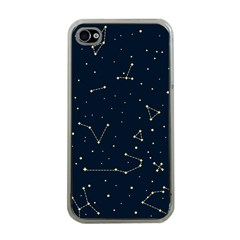 Star Zodiak Space Circle Sky Line Light Blue Yellow Apple iPhone 4 Case (Clear)