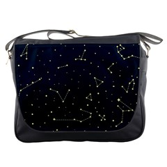 Star Zodiak Space Circle Sky Line Light Blue Yellow Messenger Bags