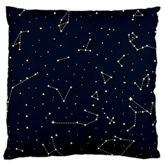 Star Zodiak Space Circle Sky Line Light Blue Yellow Standard Flano Cushion Case (two Sides)