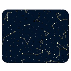 Star Zodiak Space Circle Sky Line Light Blue Yellow Double Sided Flano Blanket (Medium)