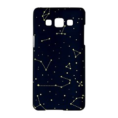 Star Zodiak Space Circle Sky Line Light Blue Yellow Samsung Galaxy A5 Hardshell Case