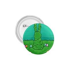 Rabbit Easter Green Blue Egg 1.75  Buttons