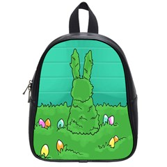 Rabbit Easter Green Blue Egg School Bags (Small)