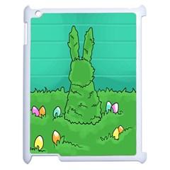 Rabbit Easter Green Blue Egg Apple iPad 2 Case (White)