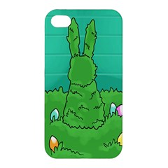 Rabbit Easter Green Blue Egg Apple iPhone 4/4S Premium Hardshell Case