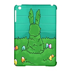 Rabbit Easter Green Blue Egg Apple iPad Mini Hardshell Case (Compatible with Smart Cover)