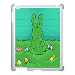 Rabbit Easter Green Blue Egg Apple iPad 3/4 Case (White)