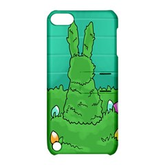 Rabbit Easter Green Blue Egg Apple iPod Touch 5 Hardshell Case with Stand