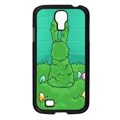 Rabbit Easter Green Blue Egg Samsung Galaxy S4 I9500/ I9505 Case (Black)