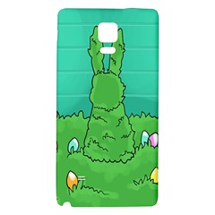 Rabbit Easter Green Blue Egg Galaxy Note 4 Back Case