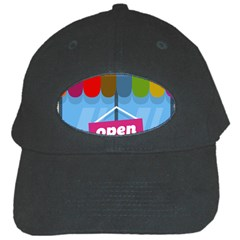 Store Open Color Rainbow Glass Orange Red Blue Brown Green Pink Black Cap