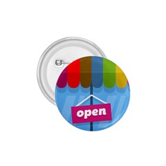 Store Open Color Rainbow Glass Orange Red Blue Brown Green Pink 1.75  Buttons