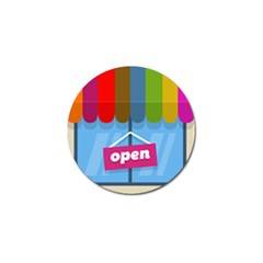 Store Open Color Rainbow Glass Orange Red Blue Brown Green Pink Golf Ball Marker (10 pack)