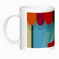 Store Open Color Rainbow Glass Orange Red Blue Brown Green Pink Night Luminous Mugs