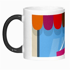 Store Open Color Rainbow Glass Orange Red Blue Brown Green Pink Morph Mugs