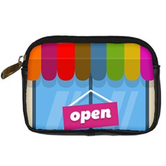 Store Open Color Rainbow Glass Orange Red Blue Brown Green Pink Digital Camera Cases