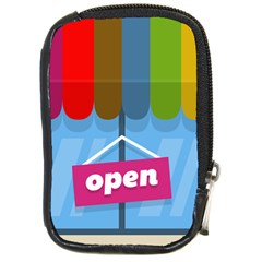 Store Open Color Rainbow Glass Orange Red Blue Brown Green Pink Compact Camera Cases