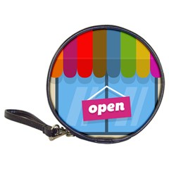Store Open Color Rainbow Glass Orange Red Blue Brown Green Pink Classic 20-CD Wallets