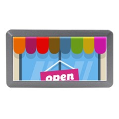 Store Open Color Rainbow Glass Orange Red Blue Brown Green Pink Memory Card Reader (Mini)
