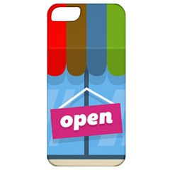 Store Open Color Rainbow Glass Orange Red Blue Brown Green Pink Apple iPhone 5 Classic Hardshell Case