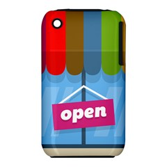 Store Open Color Rainbow Glass Orange Red Blue Brown Green Pink iPhone 3S/3GS