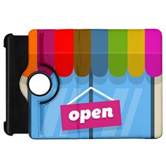 Store Open Color Rainbow Glass Orange Red Blue Brown Green Pink Kindle Fire HD 7
