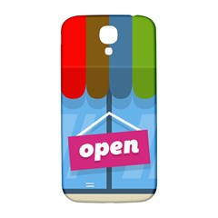 Store Open Color Rainbow Glass Orange Red Blue Brown Green Pink Samsung Galaxy S4 I9500/I9505  Hardshell Back Case