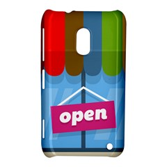 Store Open Color Rainbow Glass Orange Red Blue Brown Green Pink Nokia Lumia 620