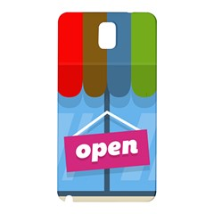 Store Open Color Rainbow Glass Orange Red Blue Brown Green Pink Samsung Galaxy Note 3 N9005 Hardshell Back Case