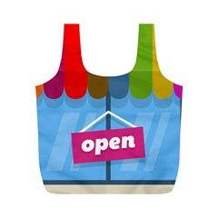 Store Open Color Rainbow Glass Orange Red Blue Brown Green Pink Full Print Recycle Bags (m)