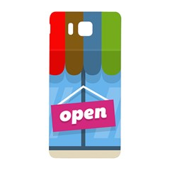 Store Open Color Rainbow Glass Orange Red Blue Brown Green Pink Samsung Galaxy Alpha Hardshell Back Case