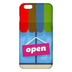 Store Open Color Rainbow Glass Orange Red Blue Brown Green Pink iPhone 6 Plus/6S Plus TPU Case