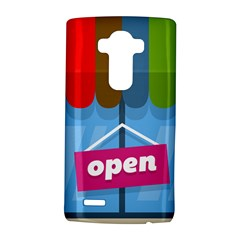 Store Open Color Rainbow Glass Orange Red Blue Brown Green Pink LG G4 Hardshell Case