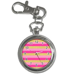 Pink Line Gold Red Horizontal Key Chain Watches