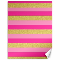 Pink Line Gold Red Horizontal Canvas 12  x 16