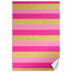 Pink Line Gold Red Horizontal Canvas 12  x 18