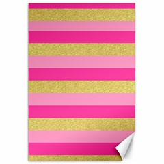 Pink Line Gold Red Horizontal Canvas 20  x 30