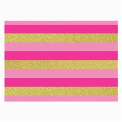 Pink Line Gold Red Horizontal Large Glasses Cloth