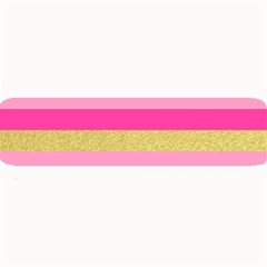Pink Line Gold Red Horizontal Large Bar Mats
