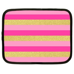 Pink Line Gold Red Horizontal Netbook Case (Large)