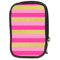 Pink Line Gold Red Horizontal Compact Camera Cases