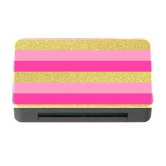 Pink Line Gold Red Horizontal Memory Card Reader with CF