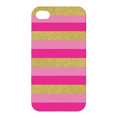 Pink Line Gold Red Horizontal Apple iPhone 4/4S Hardshell Case